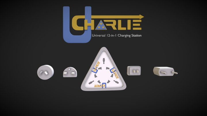 Charlie -  Universal 12-in-1 Charging Station 3D Model
