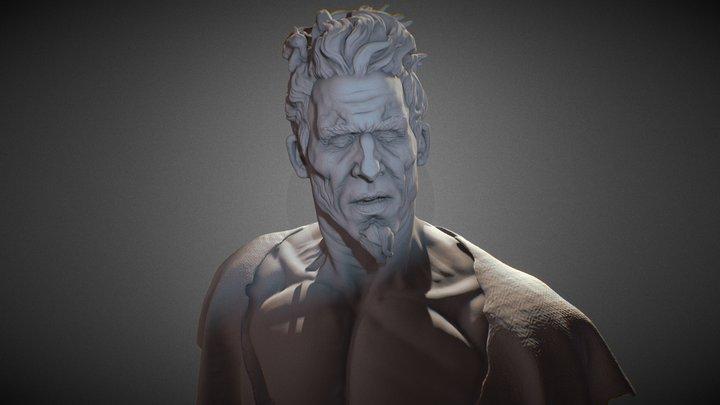 Male Bust Sculpt 3D Model