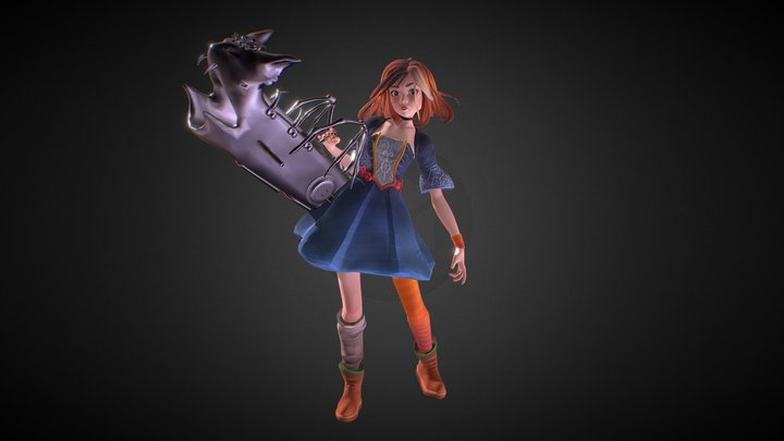 [GALOWEEN] Girl with Burst Cannon 3D Model