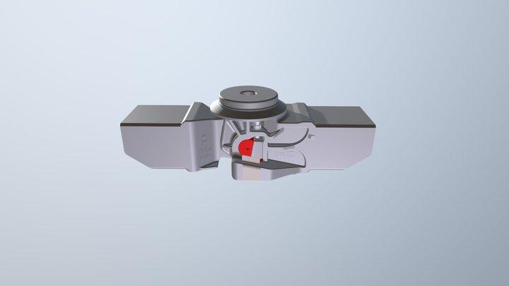 Устройство сочленения грузовых вагонов 3D Model