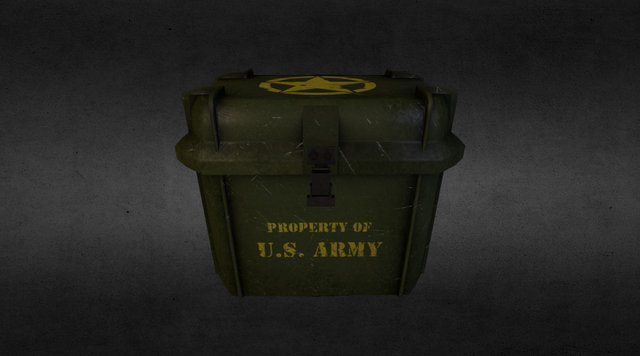Army Crate 3D Model