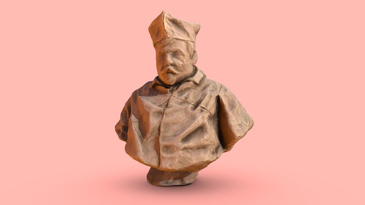 portrait sculpting _ The Chef 3D Model