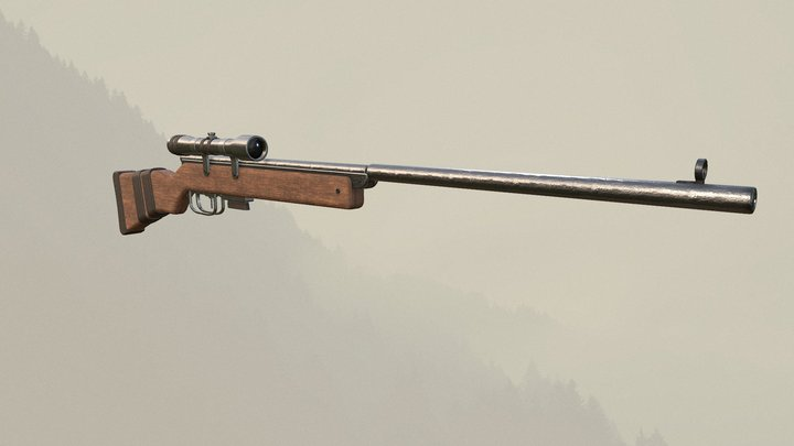 Wrath of the Goliaths Sniper Air Rifle 4K 3D Model