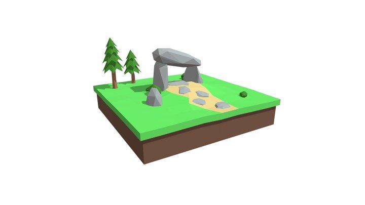 Low poly Dolmen 3D Model