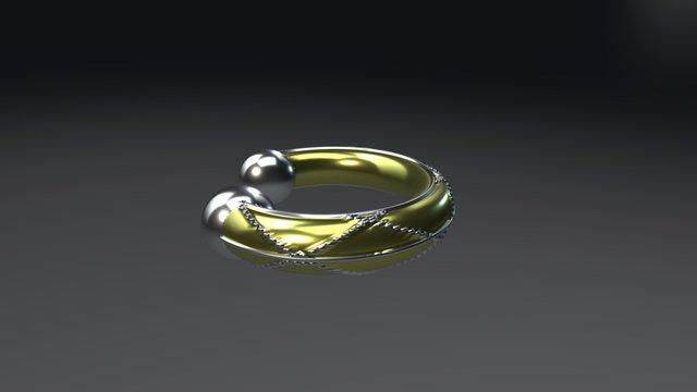 Algebraic Bracelet 3D Model