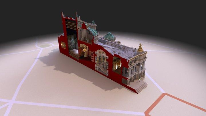 Opera Garnier cuted 3D Model