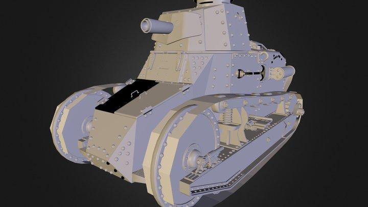 M1917 Tank 3D Model