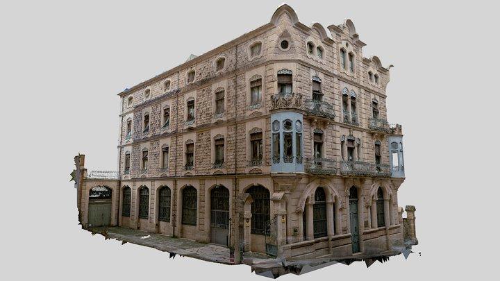 """""""Casa d' Escaló"""" Art Nouveau Palace Building 3D Model"""