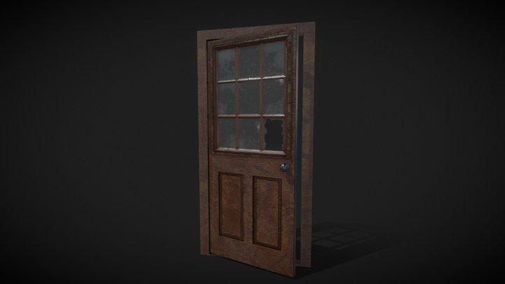 Animated old door 3D Model