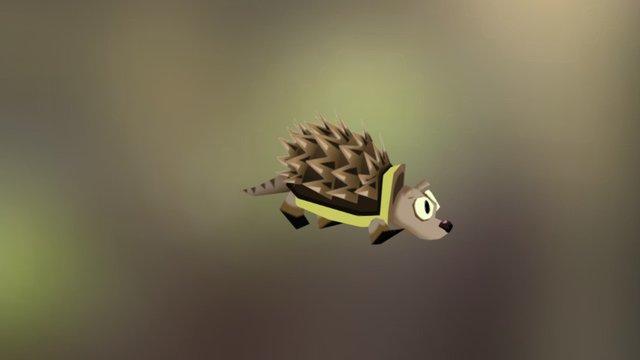 Hedgehog - superfrog - animated 3D Model
