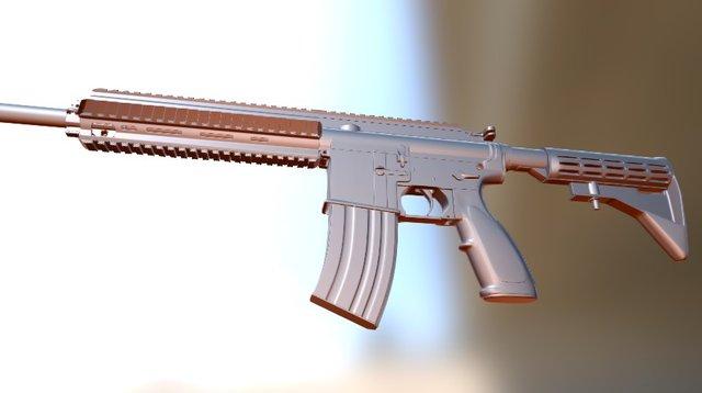 HK416 FBX TEST 3D Model