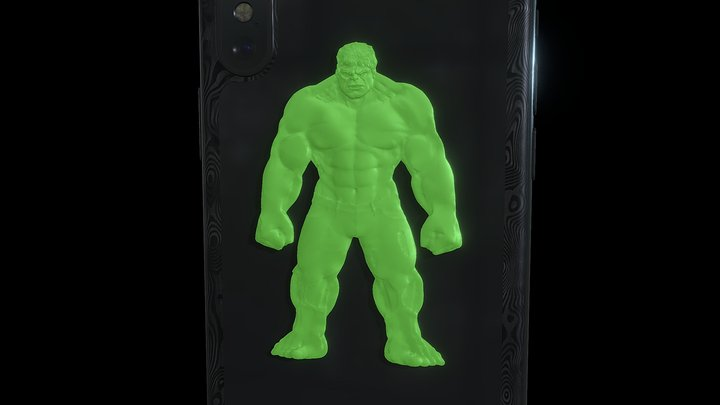 iPhone X Hulk 3D Model