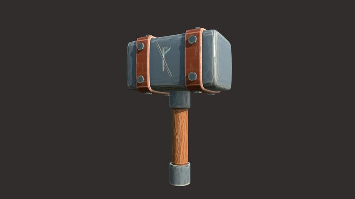 Viking Hammer 3D Model