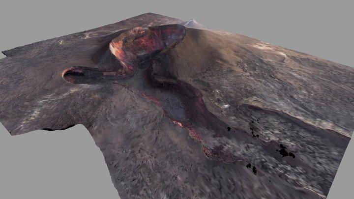 Kīlauea Volcano Fissue 8 3D Model