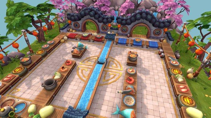 Floating Fantasy Kitchen 3D Model