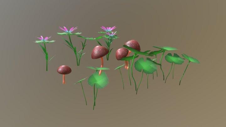 Stylised Plants 3D Model