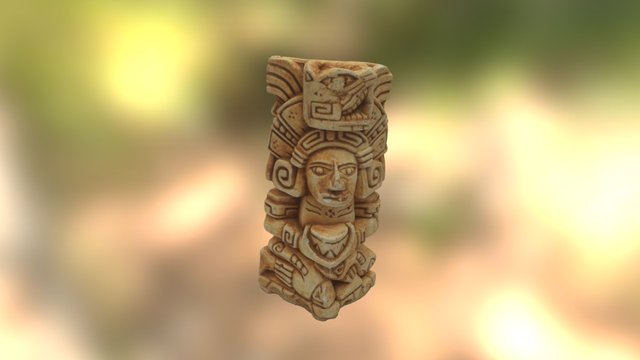 Small Mayan Statue 3D Model