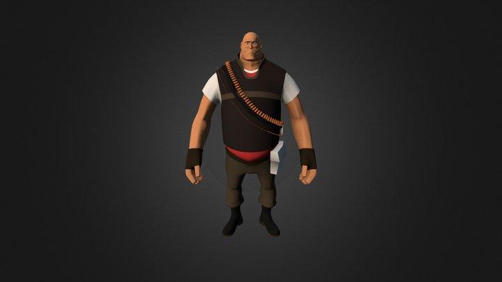 TF2 - Heavy Weapons Guy 3D Model