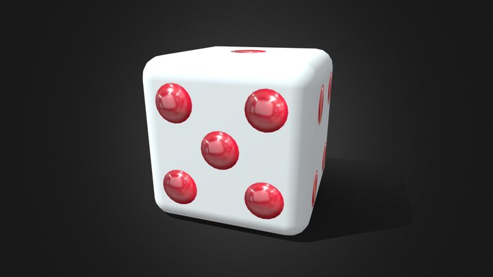 Dice Material Channels exercise 3D Model
