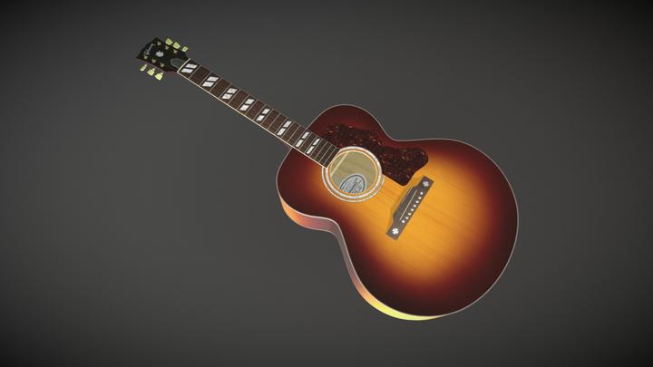 Gibson J-185 Acoustic Guitar 3D Model