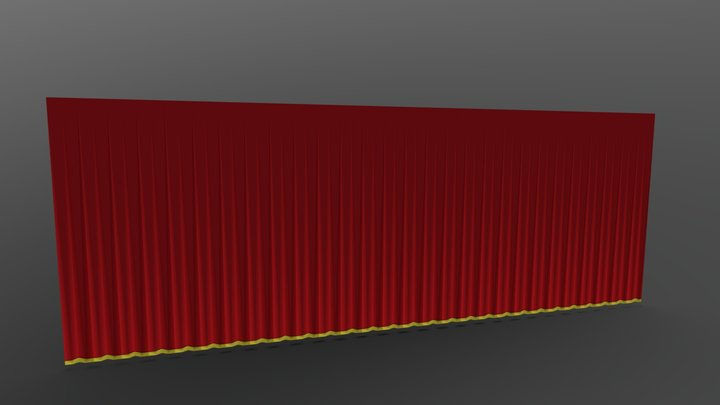 Stage Curtains 3D Model