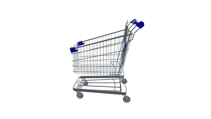 WIRE SHOPPING TROLLEY 3D Model