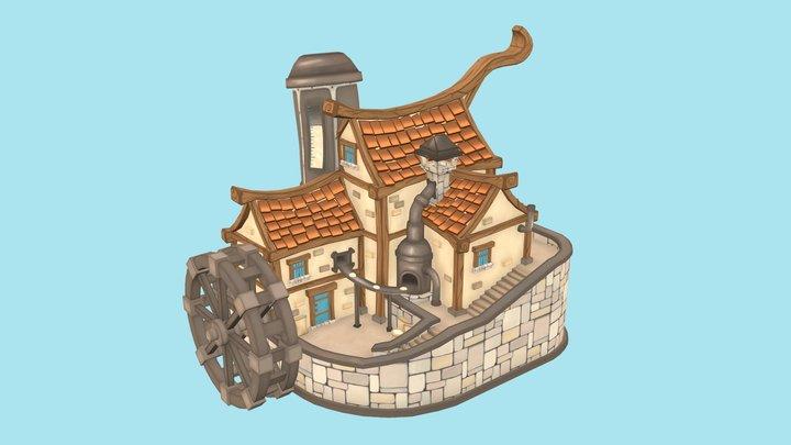 Daniels Mill & Bakery 3D Model