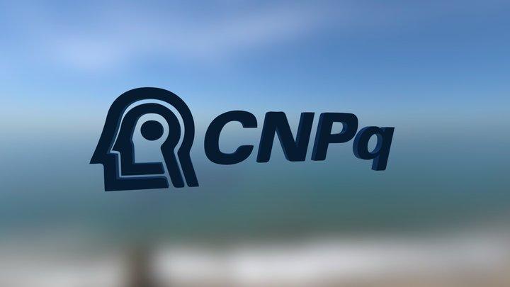 CNPq logotipo 3D Model
