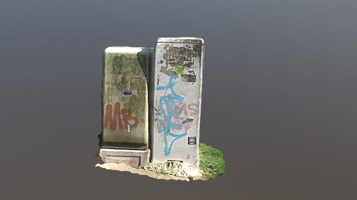 Elextric Boxes Photogrammetry 3D Model
