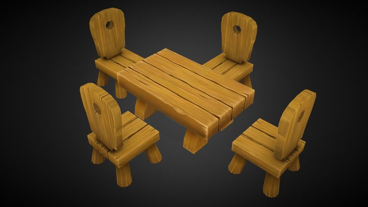 Handpainted props 3D Model