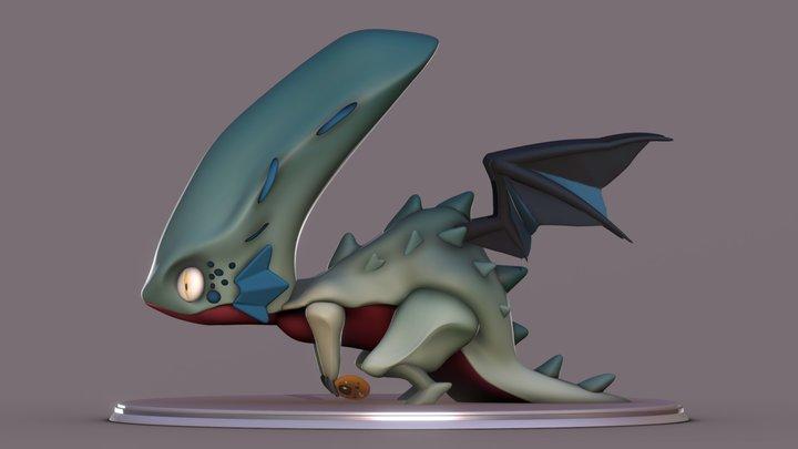 Hatchethead Dragon 3D Model