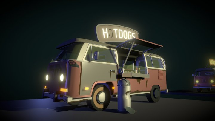 Hot-Dog-Van draft - Homework-8 3D Model