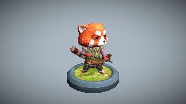 Red Panda Archer 3D Model