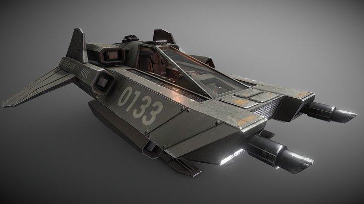 LAC - Light Assault Craft - Fighter & Cockpit 3D Model