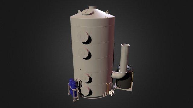 Water Washing Tower (Deodorize Equipment) 3D Model