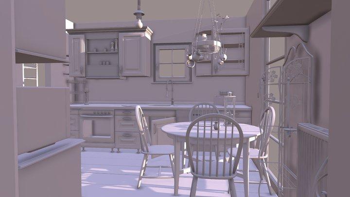 kitchen assets 3D Model