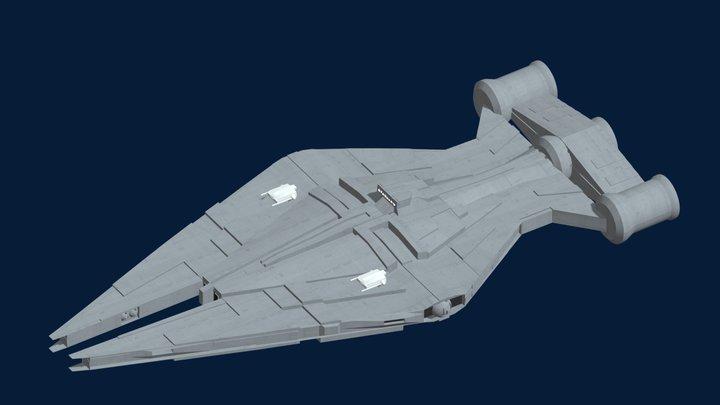 Arquitens-Class Light Cruiser 3D Model