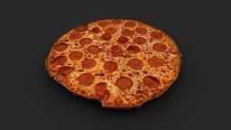 THIN CRUST PEPPERONI PIZZA 3D MODEL 3D Model