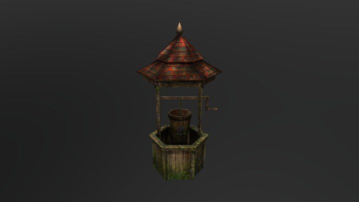 Abandoned Wishing Well 3D Model