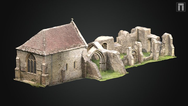 St Leonards Old Church, Sutton Veny 3D Model