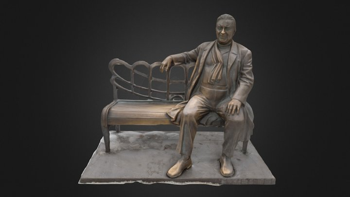 Utesov monument, Odesa by Pixelated Realities 3D Model