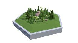 Hex World Woods 1 3D Model