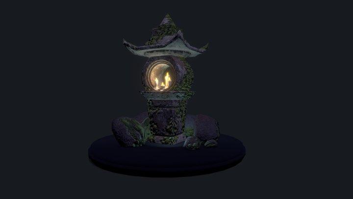 Stone Japanese Lantern 3D Model