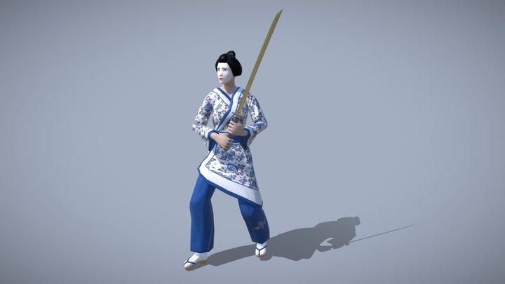 Geisha-Samurai 3D Model