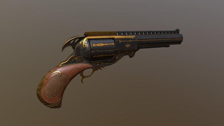 Fancy Revolver 3D Model