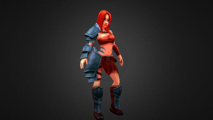 Barbarian woman 3D Model