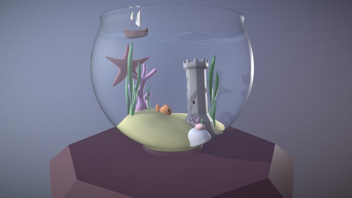 Fish In A Bowl 3D Model