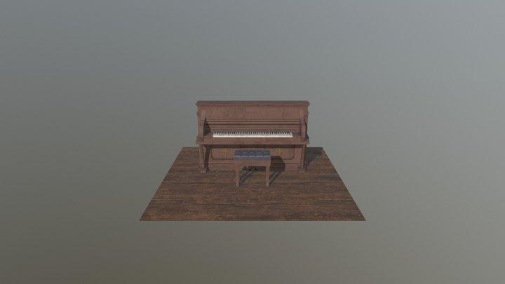Piano Western 3D Model