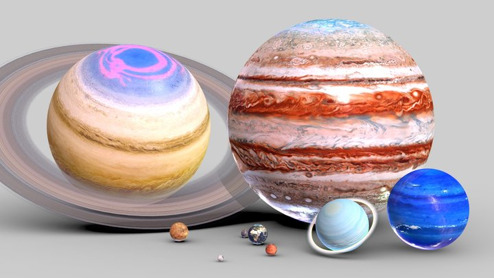 Solar System In Scale 3D Model