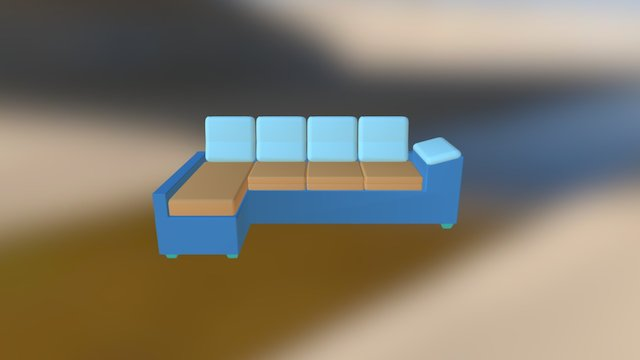 Sofá 3D Model
